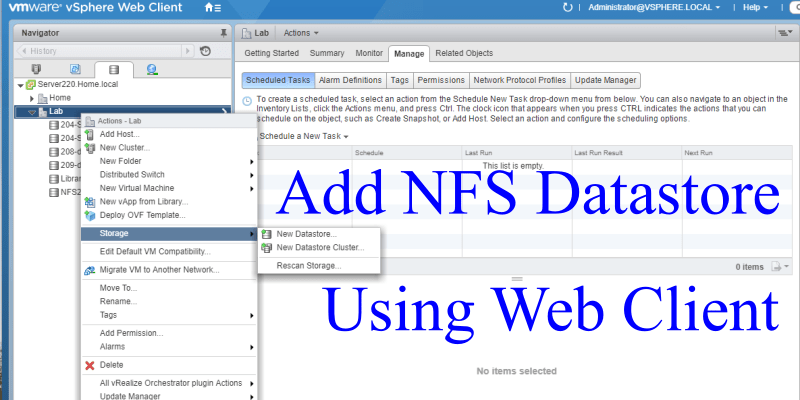 How to Create a VMware NFS Datastore