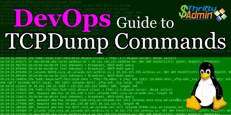 TCPDump Commands – TCPDump Cheat Sheet