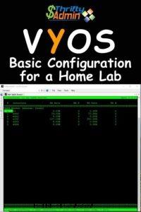 VyOS Basic COnfiguration